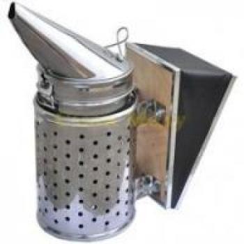 Дымарь пасечный нерж. со съемным мехом и термозащитным экраном. Тип 3