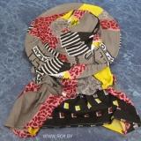 Защитная лицевая сетка и перчатки