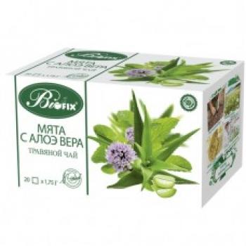 Травяной чай мята с алое вера