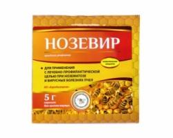 Нозевир. При нозематозе и вирусных болезнях пчёл.